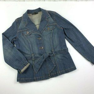 Classic Fitted Jeans Jacket Blazer